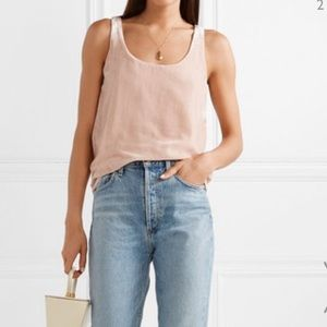 J. Crew Women's Velvet Tank Top Sleeveless Blush